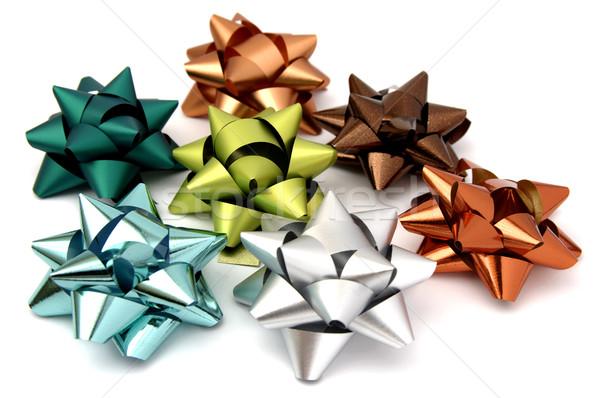 Noel yaylar birkaç renkler hediyeler Stok fotoğraf © farres