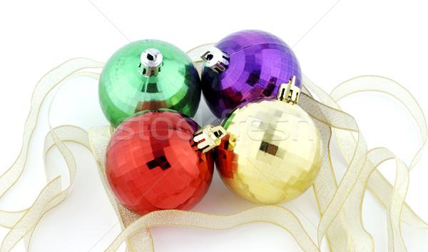 Christmas balls Stock photo © farres