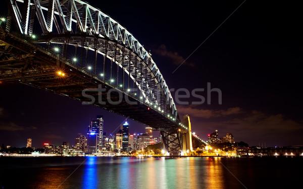 Sydney puerto puente noche horizonte Foto stock © fatalsweets