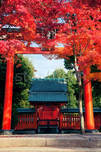 Kyoto santuario autunno Giappone cielo porta Foto d'archivio © fatalsweets