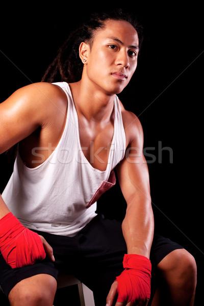 çekici genç portre Stok fotoğraf © fatalsweets