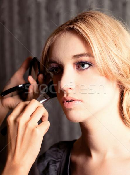 Gyönyörű nő portré Stock fotó © fatalsweets