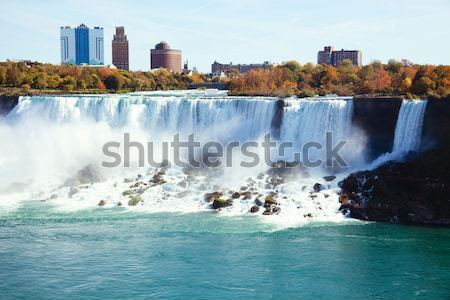 Niagara Falls foto zomer boom stad bomen Stockfoto © fatalsweets