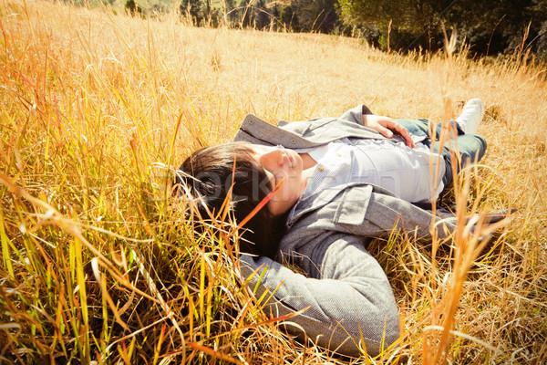 Autunno Australia giovane campo Foto d'archivio © fatalsweets