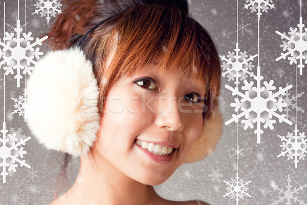 I Love Snow Flake Stock photo © fatalsweets