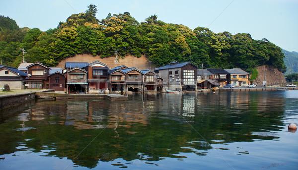 Balık tutma köy kyoto 2012 yaz zaman Stok fotoğraf © fatalsweets