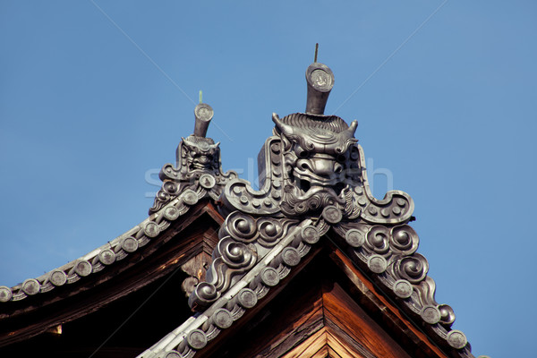 Tető terv Japán felső égbolt város Stock fotó © fatalsweets