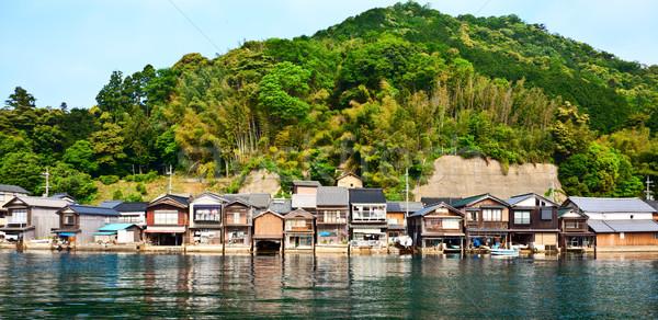 Pêche village kyoto 2012 été temps Photo stock © fatalsweets