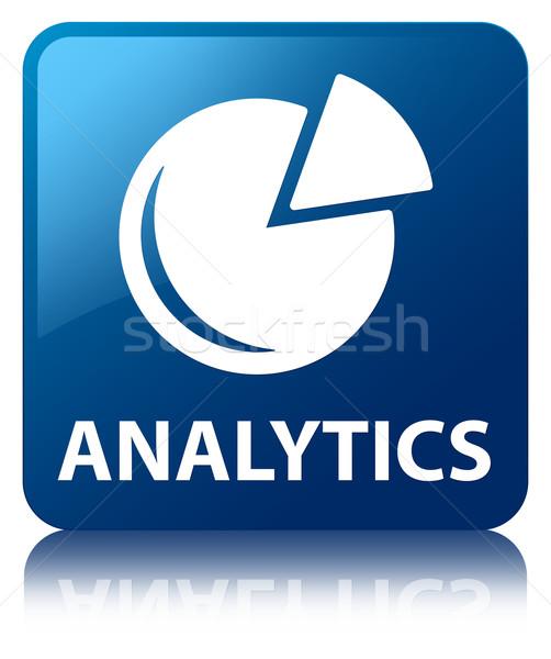аналитика графа икона синий квадратный Сток-фото © faysalfarhan