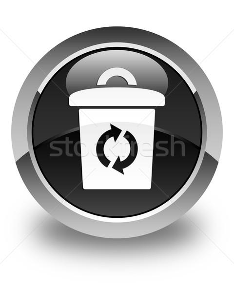 мусор икона черный кнопки веб Сток-фото © faysalfarhan