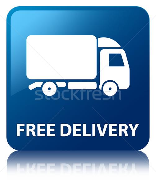 бесплатная доставка синий квадратный кнопки бизнеса Сток-фото © faysalfarhan