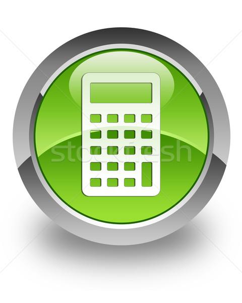 Calculator glossy icon Stock photo © faysalfarhan