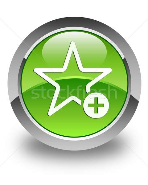 Add to favorite icon glossy green round button Stock photo © faysalfarhan