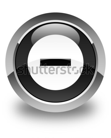 Validate icon glossy black round button Stock photo © faysalfarhan