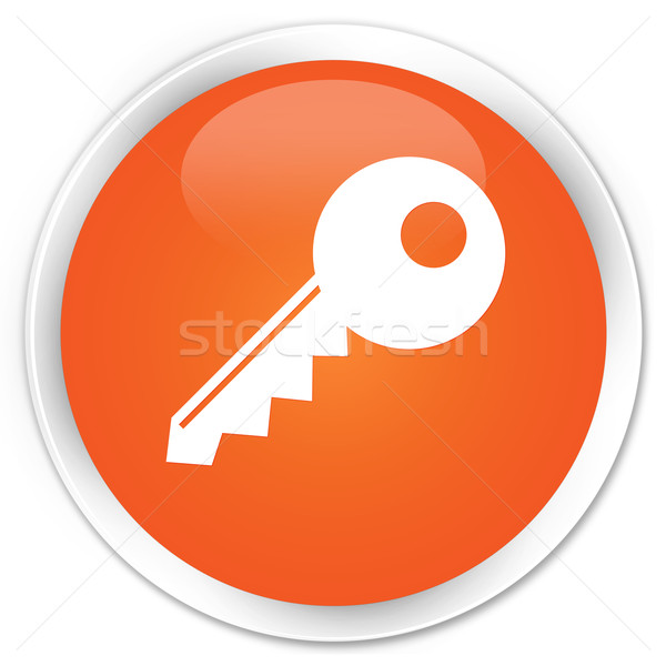 ключевые икона оранжевый кнопки знак белый Сток-фото © faysalfarhan