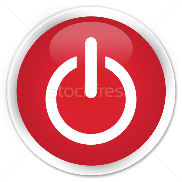 Power off icon red button Stock photo © faysalfarhan