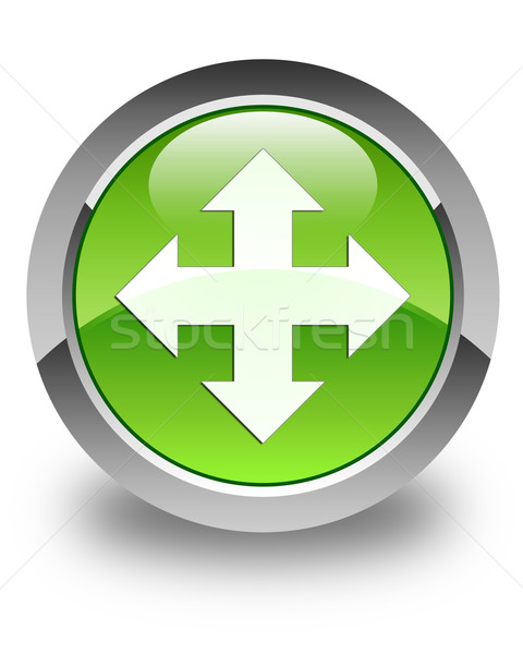 Move icon glossy green round button Stock photo © faysalfarhan