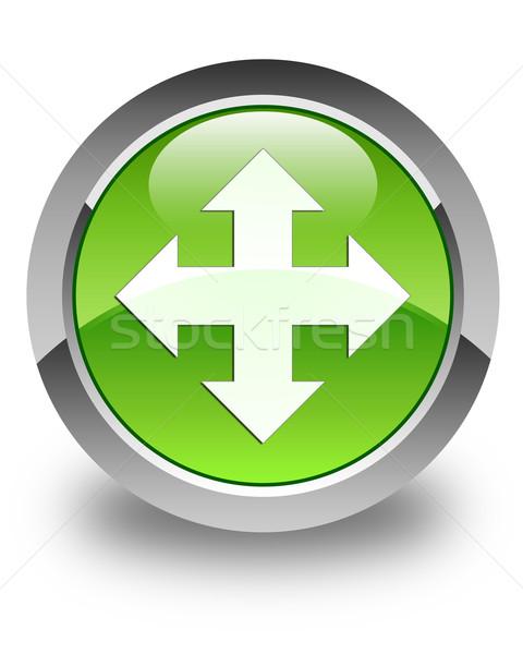 Mozgás ikon fényes zöld gomb internet Stock fotó © faysalfarhan