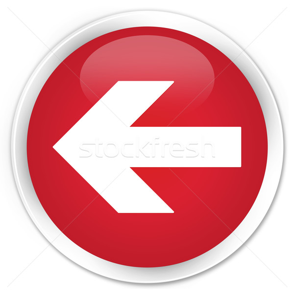 Stock photo: Back arrow icon red button
