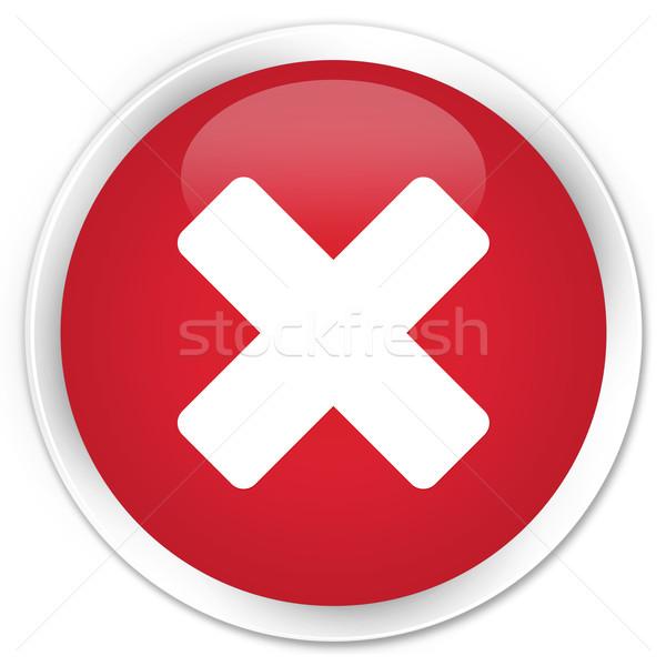 Icona rosso pulsante segno web bianco Foto d'archivio © faysalfarhan