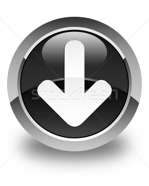 Download arrow Symbol glänzend schwarz Taste Stock foto © faysalfarhan