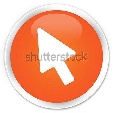 Cursor icon glossy brown round button Stock photo © faysalfarhan