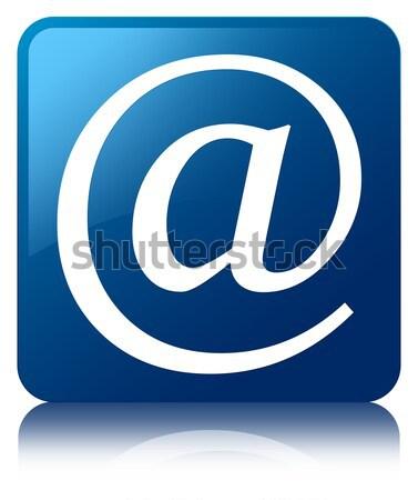 Courriel adresse icône bleu carré Photo stock © faysalfarhan