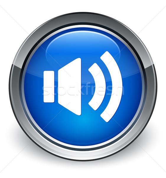 ボリューム アイコン 青 ボタン ラジオ ストックフォト © faysalfarhan