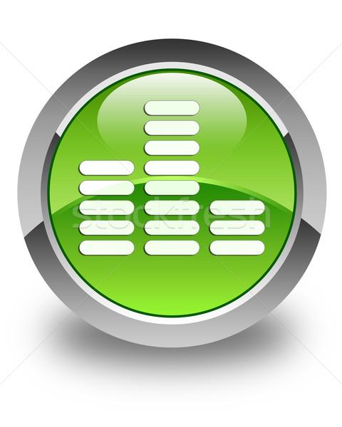 Hangszínszabályozó ikon fényes zöld gomb technológia Stock fotó © faysalfarhan