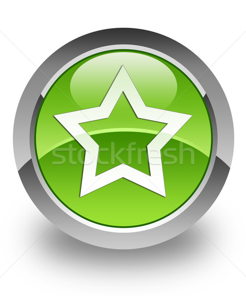 Stok fotoğraf: Favori · parlak · ikon · favori · yeşil · Yıldız