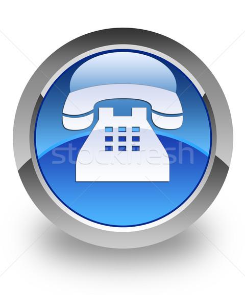 Telephone glossy icon Stock photo © faysalfarhan