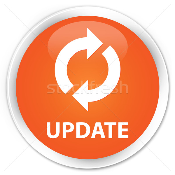 Latest News Updates: Update Icon Orange Button Stock Photo © Faysal Farhan