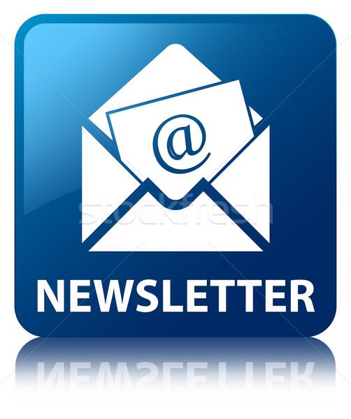 Hírlevél email ikon fényes kék tér Stock fotó © faysalfarhan