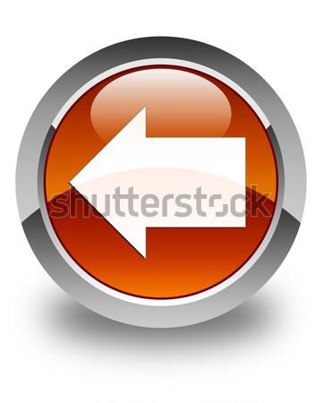 Back arrow icon glossy black round button Stock photo © faysalfarhan