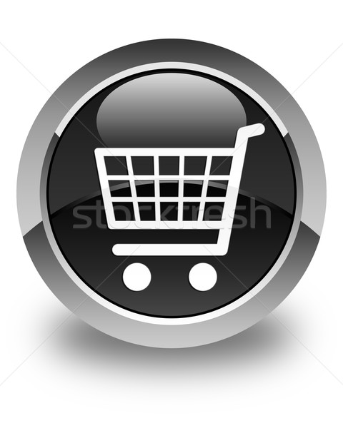 Ecommerce icon glossy black round button Stock photo © faysalfarhan
