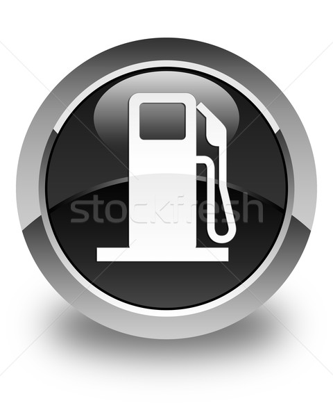 Fuel dispenser icon glossy black round button Stock photo © faysalfarhan