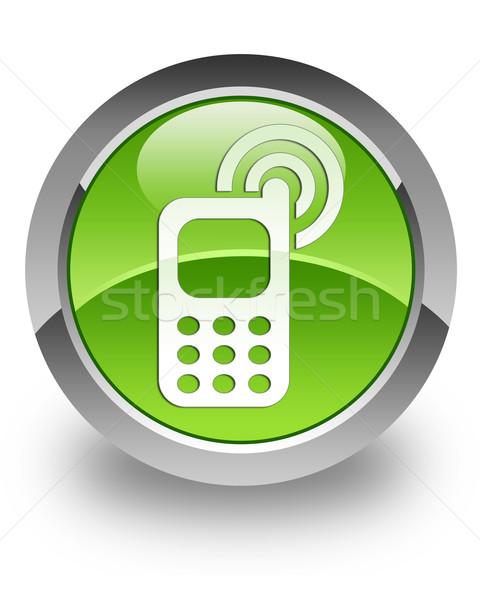 Cellphone ringing glossy icon Stock photo © faysalfarhan