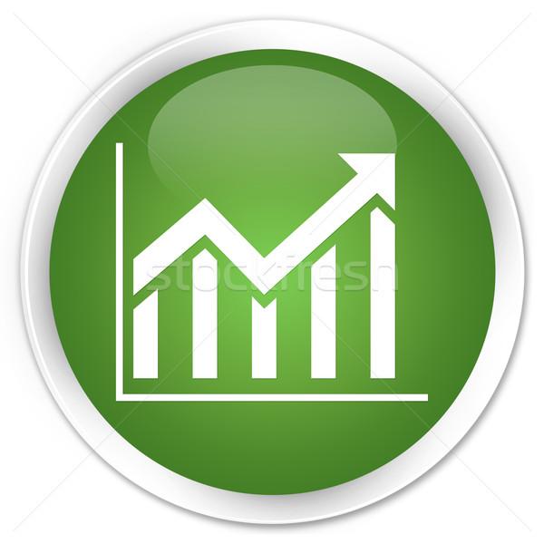 статистика икона зеленый кнопки рынке успех Сток-фото © faysalfarhan