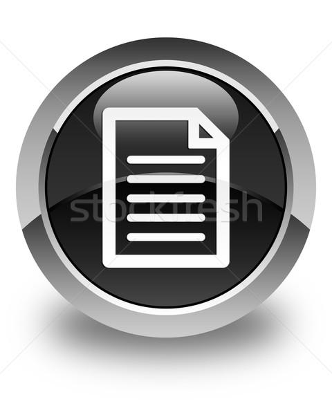 Page icon glossy black round button Stock photo © faysalfarhan