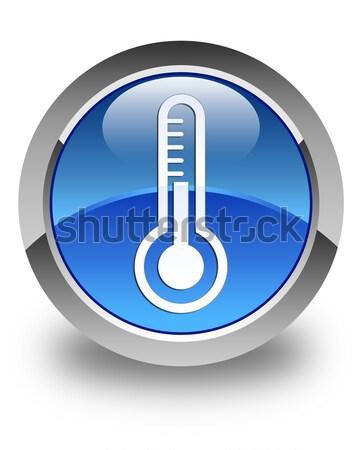 Thermometer icon glossy green round button Stock photo © faysalfarhan