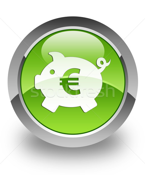 Money box glossy icon (euro) Stock photo © faysalfarhan