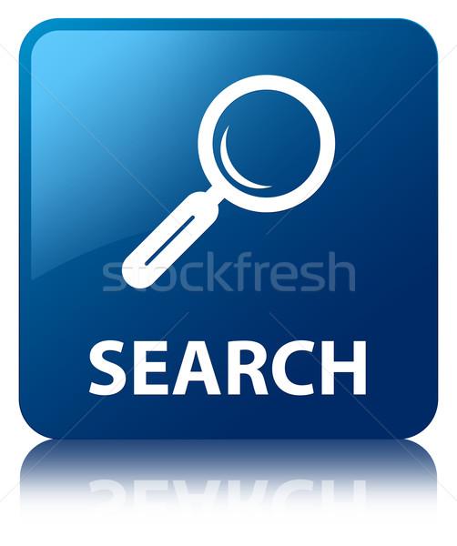 Search glossy blue reflected square button Stock photo © faysalfarhan
