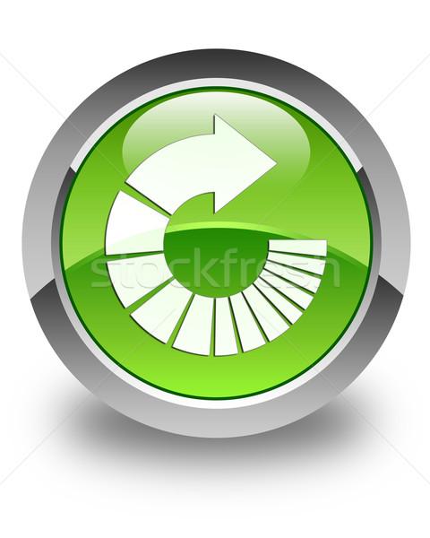Forgat nyíl ikon fényes zöld gomb Stock fotó © faysalfarhan