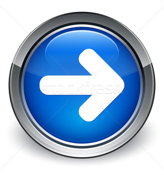 Podpisania w górę arrow ikona niebieski Zdjęcia stock © faysalfarhan
