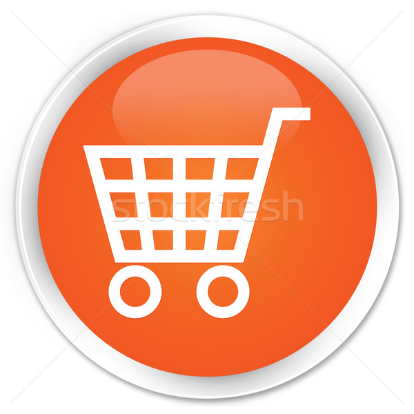 E-commerce icon orange button Stock photo © faysalfarhan