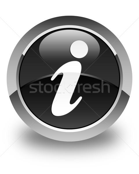 情報をもっと見る アイコン 黒 ボタン インターネット ストックフォト © faysalfarhan