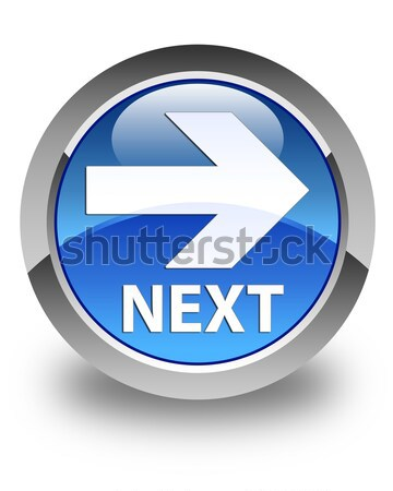 Stock photo: Back arrow icon glossy blue button