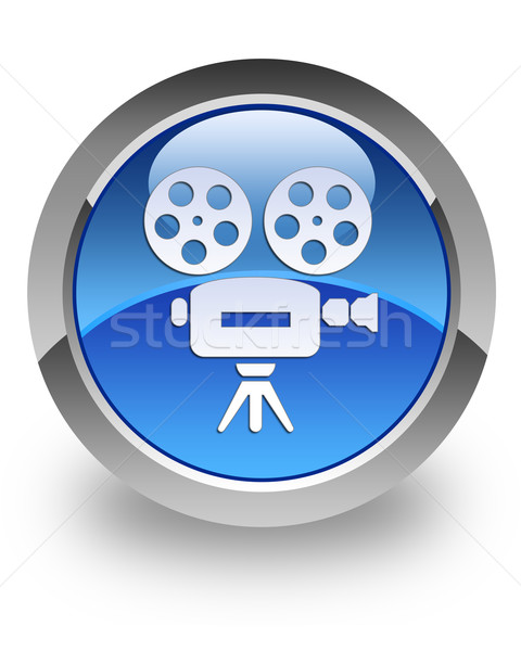Video camera glossy icon Stock photo © faysalfarhan