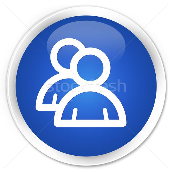 Csoport ikon kék gomb üzlet iroda Stock fotó © faysalfarhan