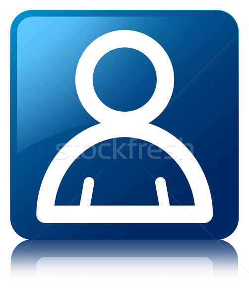 Miembro icono azul cuadrados botón Foto stock © faysalfarhan